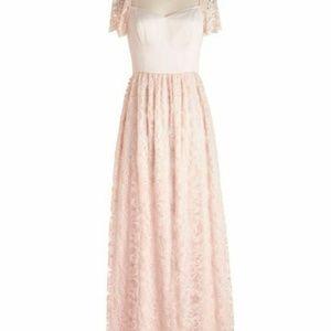 Modcloth Blush Lace Destiny Maxi Dress Bridesmaid